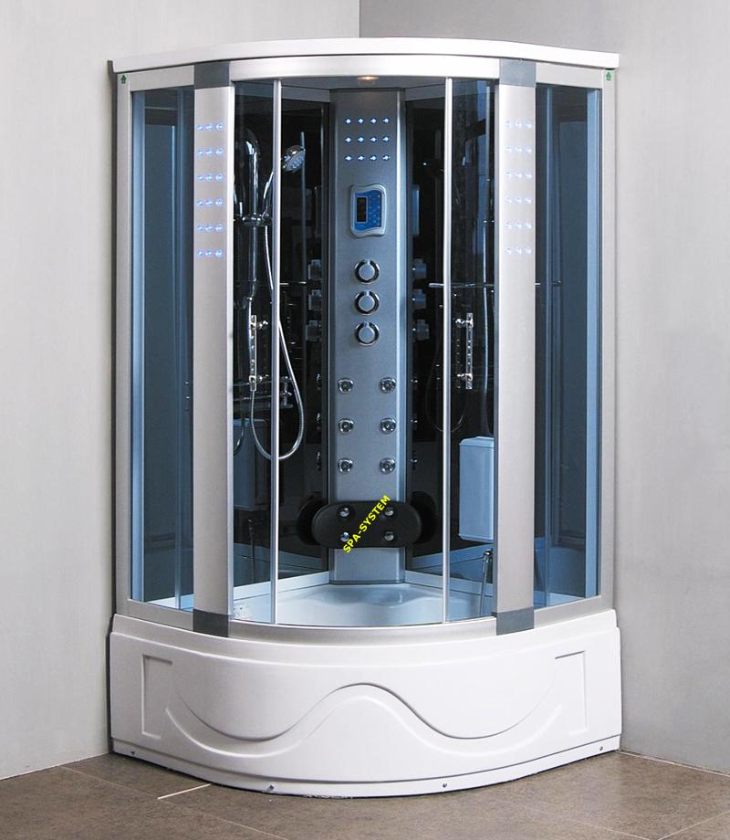 Kabina prysznicowa z sauną i hydromasażem, model K004 105x105cm