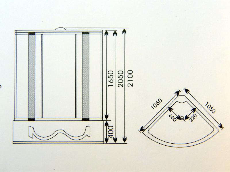 Rysunek techniczny kabiny K004