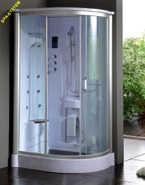 Wersja lewa kabiny prysznicowej 120x90cm