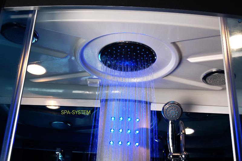 Prysznic górny w wannie