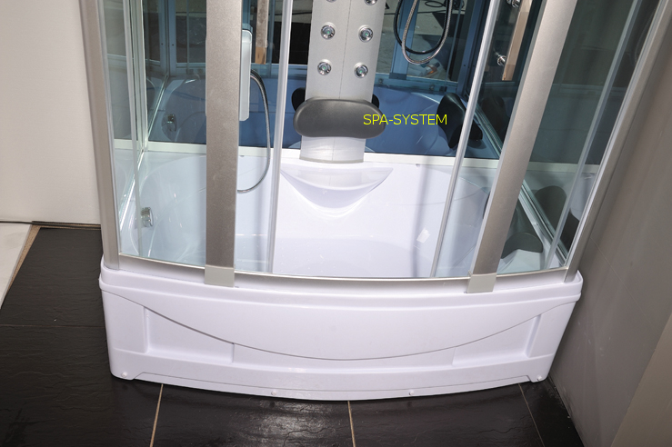 Kabina prysznicowa z wysokim brodzikiem
