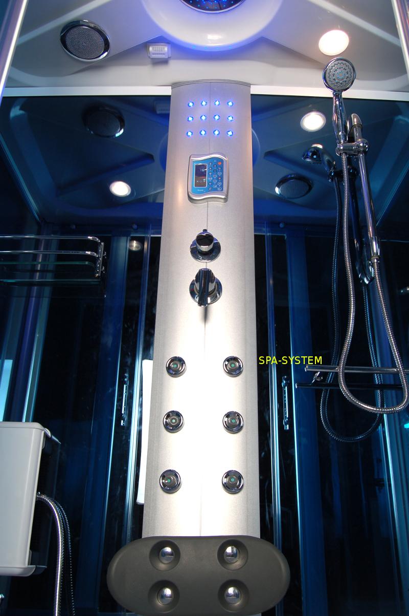 Kabina prysznicowa z sauną parową 160x85cm