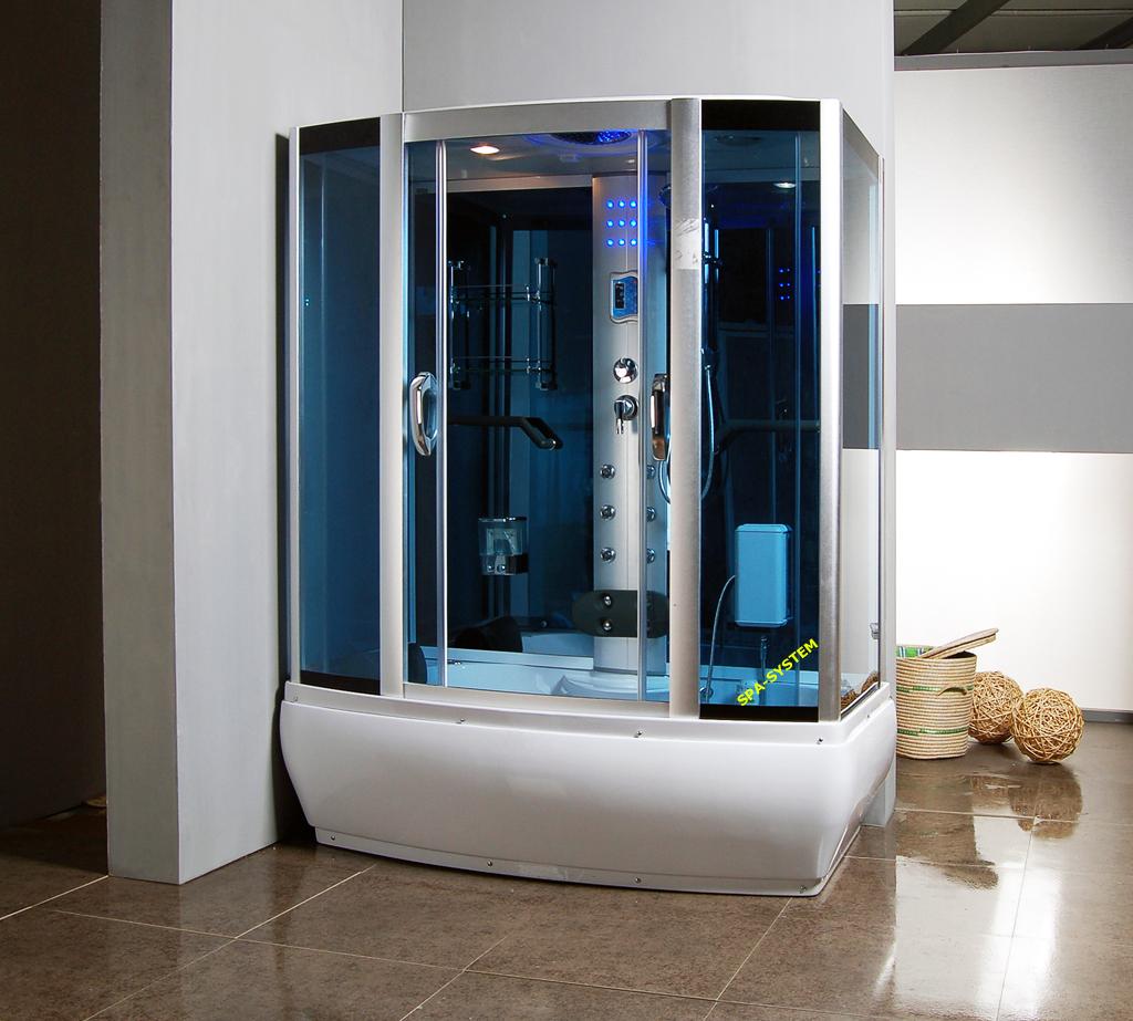 Kabiny prysznicowe z hydromasażem i sauną